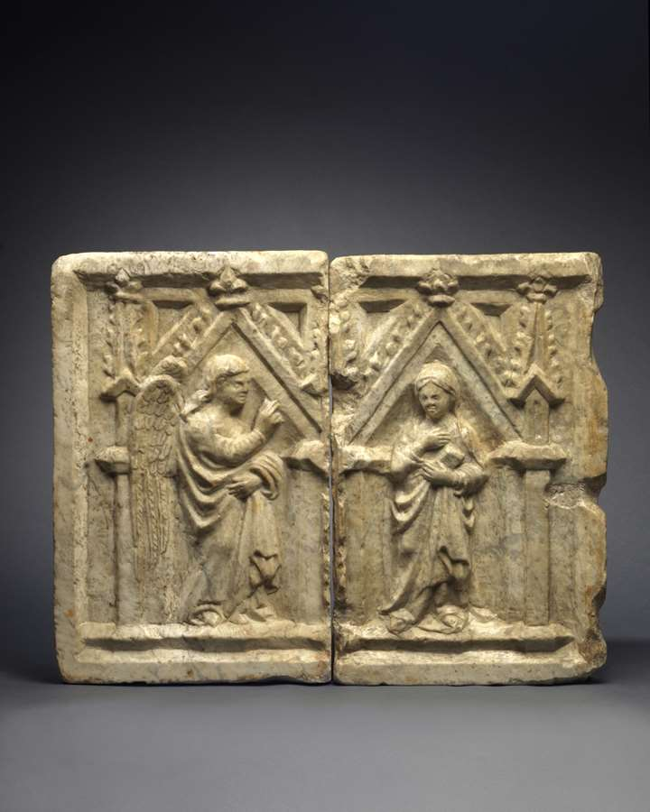 A Pair of Reliefs with the Angel Gabriel and Virgin of the Annunciation